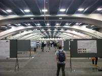view down the poster hall
