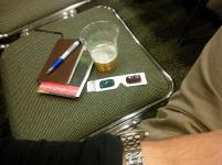 Beer and notebook